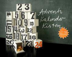 Calendario dell'Avvento da riempire e comporre a scelta