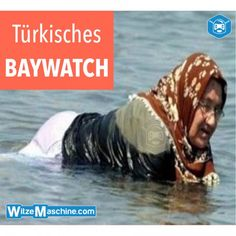 Türkisches Baywatch - Türkische Pamela Anderson mit Kopftuch