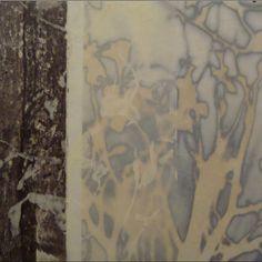 Jane Guthridge   Dancing Light   encaustic on translucent rice paper.