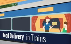 Online #portals for food delivery in trains