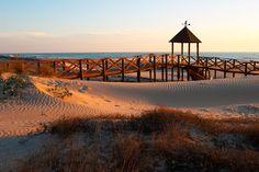 Playa de la Cortadura (Cádiz): un cordón de dunas con pasarelas