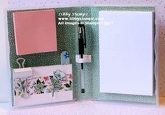 I promised many people I'd do a tutorial on how to make this Stationary Box which would be suitable for many occasions, however this one I have designed as a gift for Mothers Day. I wi… 3d Paper Projects, 3d Paper Crafts, Paper Gifts, Dvd Case Crafts, Kalender Design, Stampin Up, Stationary Box, Post It Note Holders, Craft Show Ideas