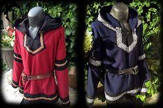 Tunique du Viking personnalisable avec fantaisie médiévale, hotte, garniture, vêtements