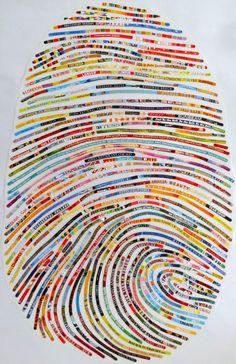 Typeverything.com - Thumbprint portraits by Cheryl Sorg.