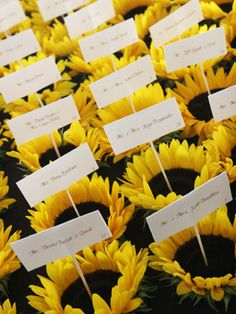 Send guests home with potted flowers or plants. Add a tag with their names and table numbers so they double as escort cards.