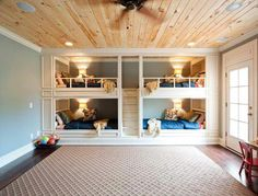 Boys Bunk Room - Design photos, ideas and inspiration. Amazing gallery of interior design and decorating ideas of Boys Bunk Room in bedrooms, boy's rooms by elite interior designers. Bunk Bed Rooms, Bunk Beds Built In, Modern Bunk Beds, Bunk Beds With Stairs, Kids Bunk Beds, Cool Bunk Beds, Bedroom Bed, Dream Bedroom, Modern Bedroom