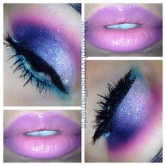 Cool make up! May try it for the next hair show. -- Curated by: Adventures In Hair | 1611 Ellis Street Kelowna BC V1Y 2A8 | 2507629868
