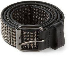 Diesel Black Gold 'Benjamin-A' studded belt on shopstyle.com