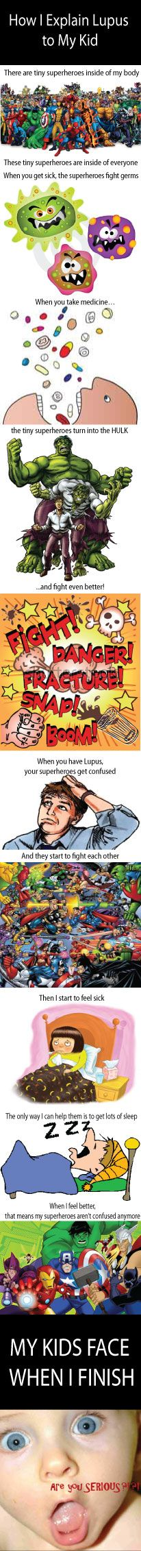 A way to explain #lupus to a child
