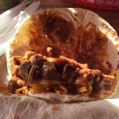 Taco de guisado con cheese. #tacos #foodie #sanantonio #texas #foodporn by @yummifiedmakeup_yami - more recipes at www.tomcooks.com