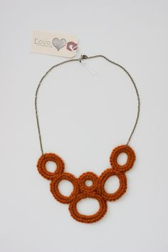 Beautiful crochet bib necklace from Love, SB Designs. There is a giveaway for two of these at Delia Creates this weekend! :)