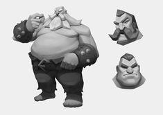 Game Character Design, Character Design Animation, 3d Character, Character Concept, Concept Art, Zbrush Character, Monochromatic Art, Greek Warrior, 3d Fantasy