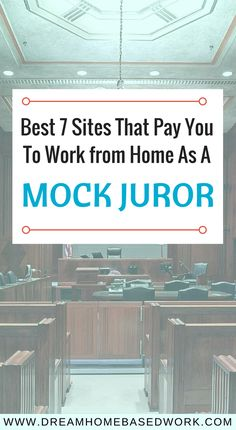 Best 7 Sites That Pay You To Work at Home as a Mock Juror Online juror is yet another popular work at home position. Check out seven of the best online mock jury websites that pay. Earn Money From Home, Way To Make Money, Make Money Online, Work From Home Opportunities, Work From Home Jobs, Career Opportunities, Haut Routine, Show Me The Money, Thing 1