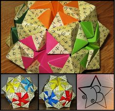 flores caja hexagonal tutorial 3 kusudama pinterest. Black Bedroom Furniture Sets. Home Design Ideas