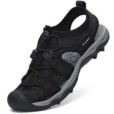$29.99 SIZE 9 BLACK FLARUT Men's Sport Sandals Outdoor Hiking Sandals Closed Toe Mesh Athletic Lightweight Trail Walking Casual Sandals W...