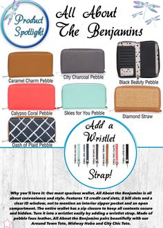 Product Spotlight! All About the Benjamins Thirty-One spring/summer 2018 patterns.