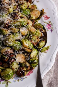 If you have Brussels sprouts haters in your family, this might just be the recipe to convert them. Sweet, nutty sprouts with crisp bacon, Parmesan and butter. The perfect festive side dish. #recipe