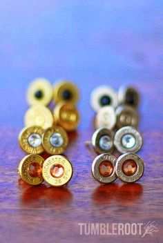 Move over diamonds, bullets are a girl's new best friend. These super cute earrings are handmade from real fired bullets, adding the perfect amount of bad-ass to whatever you pair them with.