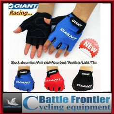 Special offer NEW summer Men's half finger cycling bicycle sports silicon bike Gloves/Mittens red,blue,black M,L,XL ventilate US $10.00