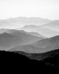 Mountain Mist - Black and White Collection by Frederick Ardley Unsigned Prints
