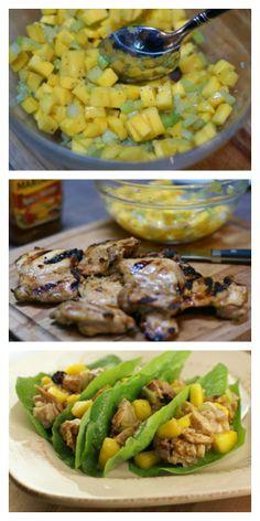 Mango Chicken Lettuce Wraps   5DollarDinners.com