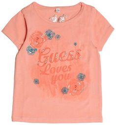 GUESS Short-Sleeve Floral Logo Tee (2-6x)