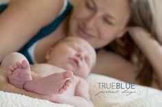 mom with newborn - so sweet! www.trueblueportrait.com