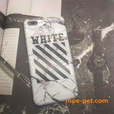 OFF-WHITE iPhone7s/8ケース 大理石柄 カップルペアアイフォン6sカバー オフホワイト ストリート風 磨き砂 黒白