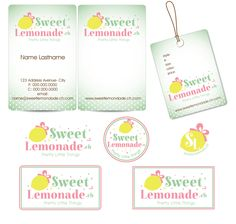 Create an informative and aesthetic business card letterhead for logo business cards and product tag design for sweet lemonade from switzerland reheart Image collections