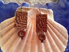 Artisan Hand Made Copper Stamped Earrings with by TheArtisanZipper
