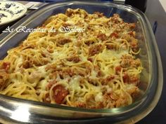 Esparguete com Atum e Queijo no Forno