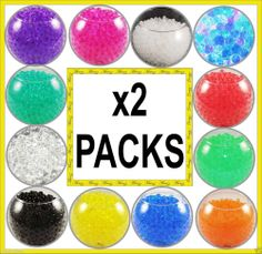 2 PACKS WATER AQUA CRYSTAL SOIL BIO GEL BALL BEADS WEDDING VASE CENTERPIECE UK