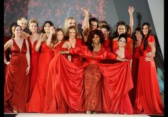 The Heart Truth's Red Dress Collection 2012 Fashion Show - all the ladies in red!