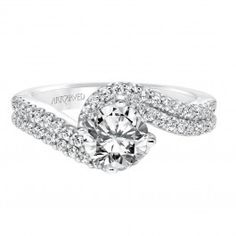 Choose a unique engagement ring that you'll wear forever! This one is from Wedding Day Diamonds!