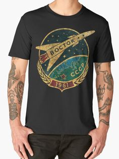 """""""CCCP Boctok 1961"""" Men's Premium T-Shirts by Lidra   Redbubble"""
