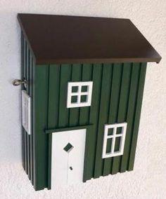 ein briefkasten als nachbildung des originalhauses diese super diy idee schm ckt jeden. Black Bedroom Furniture Sets. Home Design Ideas