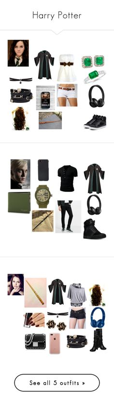 """Harry Potter"" by niacokerbengochea on Polyvore featuring Pastry, Fallon, Versace, Dramione, Express, Supra, Shinola, Diesel, Ted Baker and men's fashion"