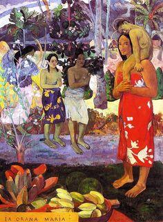 Ia Orana Maria Hail Mary by Paul Gauguin - OilPaintings.com