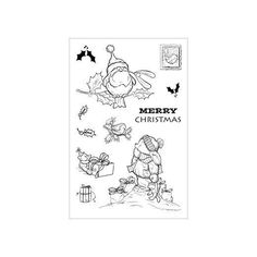 Cuddly Buddly Clear Stamps - Toby Tumble & Robins CBS0002