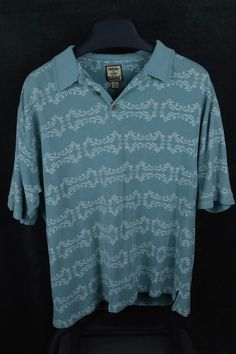 Tommy Bahama mens 2XL XXL blue SS Polo pullover shirt silk cotton blend #TommyBahama #PoloRugby