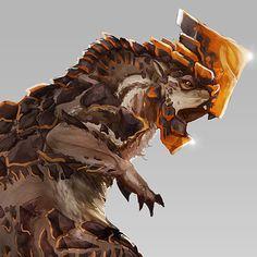Oryctomus - Monster Hunter Creature, Sam Cullum on ArtStation at https://www.artstation.com/artwork/oryctomus-monster-hunter-creature-design
