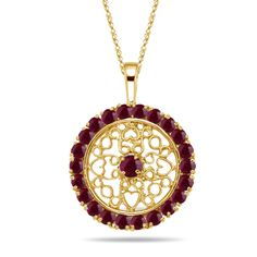 0.31 Cts Ruby Pendant in 14K Two Tone Gold (141065)