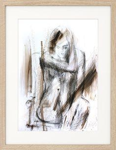 Charcoal Nude Sketch, Original drawing, Woman Figurative sketch, Graphic art, Modern artwork, Wall Decor, Female Figure, Wall art sketch by IvMarART on Etsy