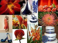 The Flower Girl Blog: color palette inspiration - navy blue and rusty orange