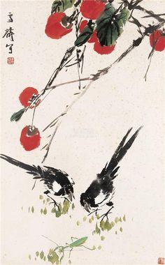 soyka62 - Wang Xuetao - 王雪涛 (Chinese, 1903-1982) Sumi E Painting, Japan Painting, Chinese Painting, Japanese Illustration, Botanical Illustration, Pretty Drawings, Japanese Calligraphy, China Art, Japanese Art