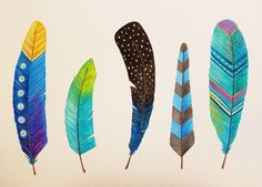 Whimsical Feather Art | How to Paint Feathers with Acrylics | Easy Begin...