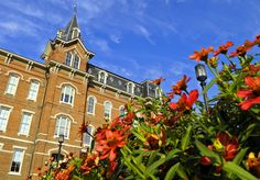 University Hall at Purdue's main campus in West Lafayette.  I love that blue Purdue sky!