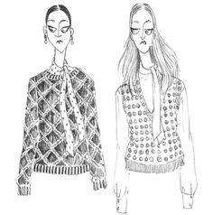 Mode-illustraties zijn razend populair tijdens de fashion week - Famme.nl