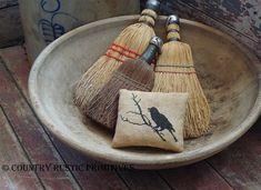 Primitive The Raven Pillow Tuck Cross Stitch E Pattern PDF