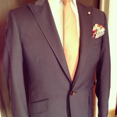 Spring super lightweight blue one button peak lapel killer from CMMP. #bespoke #custom  #MadeInTheUSA #menswear #fashion
